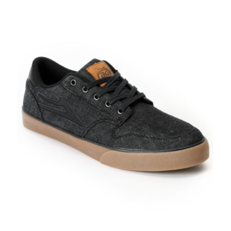Lakai Carroll 5 Black Denim Skate Shoe