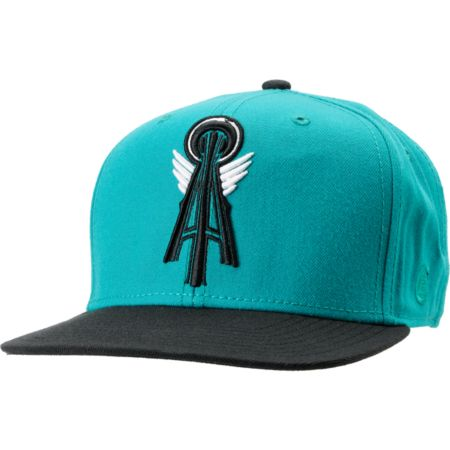 Casual Industrees Alpha Teal & Black Snapback Hat