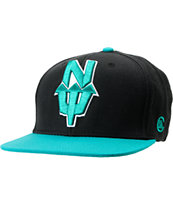 Casual Industrees N.Dub Black & Teal Snapback Hat