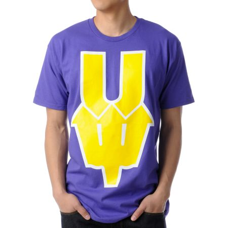 Casual Industrees U Dub Purple & Gold Tee Shirt