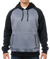 Empyre Treeline Black & Charcoal Tech Fleece Jacket Pullover Hoodie