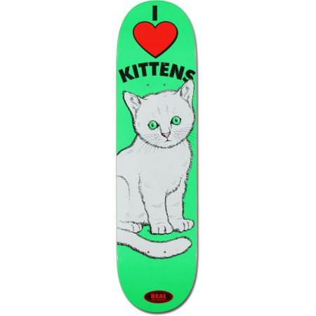 Real Sunburn Kitten R1 Construction 8.06 Skateboard Deck