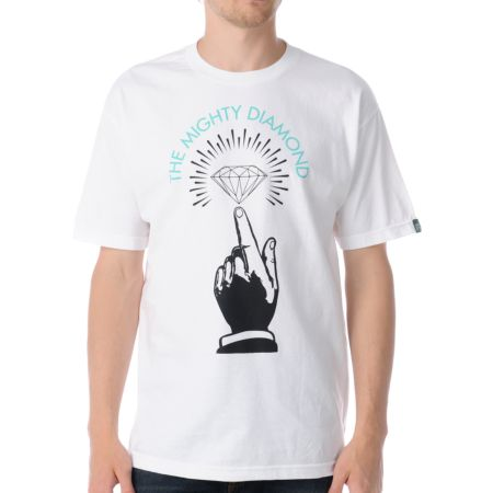 Mighty Healthy x Diamond Numero Uno White Tee Shirt