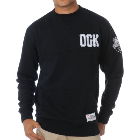 DGK Go Getters Black Crew Neck Sweatshirt