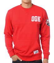 DGK Go Getters Red Crew Neck Sweatshirt