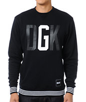DGK G Crew Black Crew Neck Sweatshirt