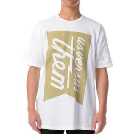 Us Vs Them Banner Magnum White Tee Shirt