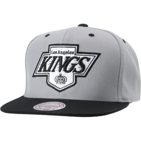 NHL Mitchell and Ness Kings Undervisor Arch Logo Snapback Hat