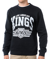 NHL Mitchell and Ness Kings Stadium Black Crew Neck Sweatshirt