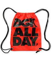 DGK All Day Red Drawstring Bag