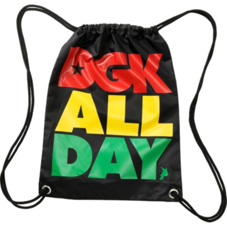 DGK All Day Rasta Drawstring Bag