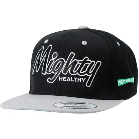 Mighty Healthy Classic Black & Grey Snapback Hat