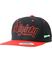 Mighty Healthy Classic Black & Red Snapback Hat