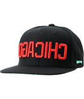 Mighty Healthy Chicago Black Snapback Hat