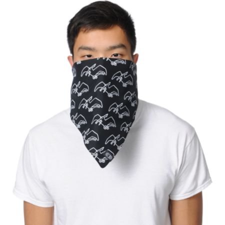 Airblaster Terry Black & White Face Mask Bandana