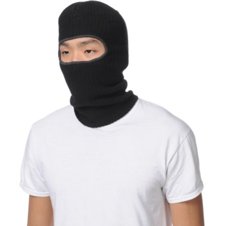 Coal Clava Black Knit Facemask Beanie