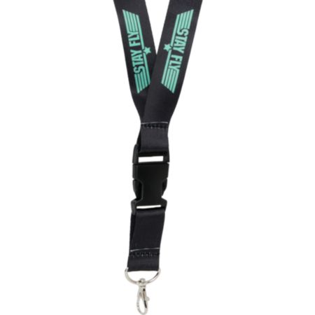 TMLS Stay Fly Black & Mint Lanyard