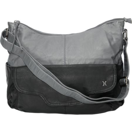 Hurley Girls 2 Tone Black & Grey Hobo Bag