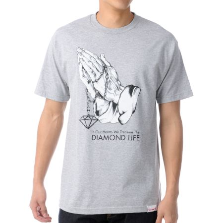 Diamond Supply Treasure Heather Grey Tee Shirt