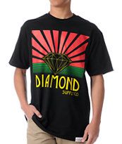 Diamond Supply Co Shining Black & Rasta Tee Shirt