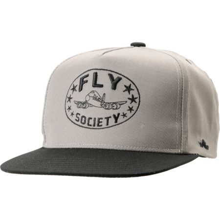 Fly Society Classic Grey & Black Snapback Hat