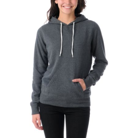 Zine Girls Charcoal Grey Pullover Hoodie