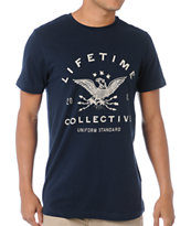 Lifetime Collective Let Spirits Ride Navy Tee Shirt