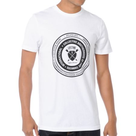 Lifetime Collective Brotherhood White Tee Shirt