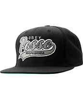 Obey On Deck Black Snapback Hat