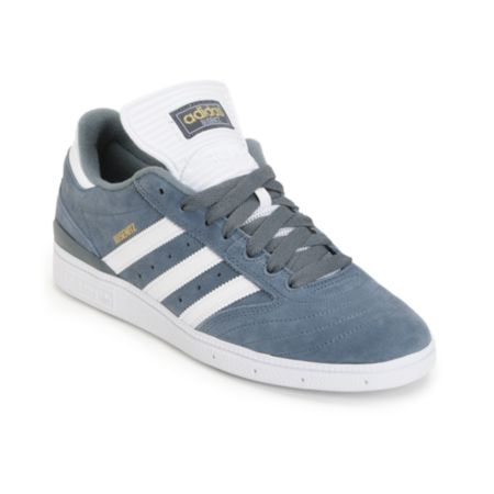 Adidas Busenitz Grey, White & Gold Skate Shoe