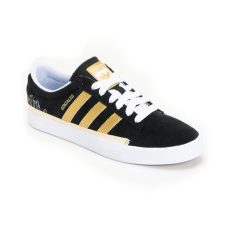 Adidas Rayado Low Black & Gold Skate Shoe