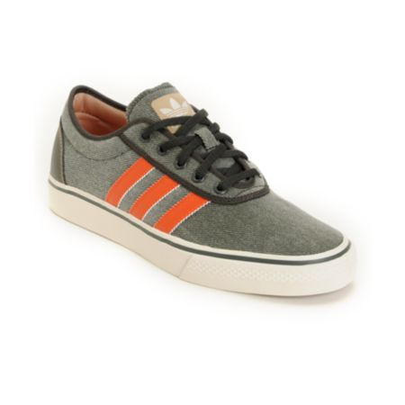 Adidas Adi Ease Grey & Orange Canvas Shoe