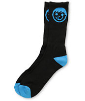 Neff Logo Black & Blue Crew Socks