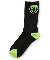 Neff Logo Black & Green Crew Socks