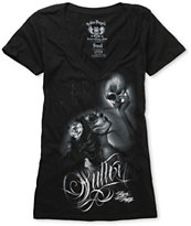 Sullen Girls Whisper Black V-Neck Tee Shirt