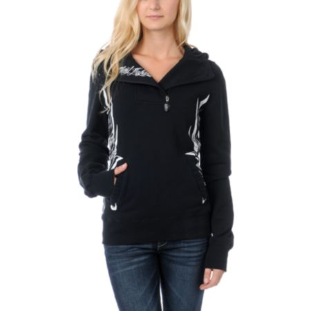 Metal Mulisha Girls Saucy Black Pullover Hoodie