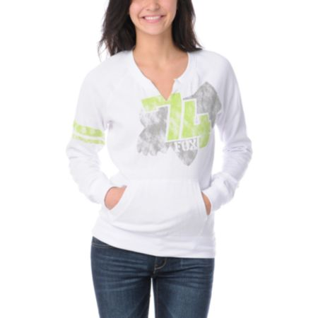 Fox Girls Tricks White Crew Neck Sweatshirt