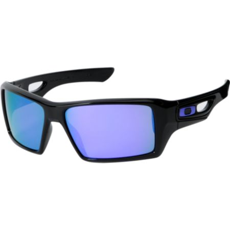 Oakley Eyepatch 2 Matte Black & Violet Iridium Sunglasses