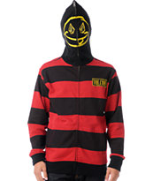 Volcom Inyoface Red Stripe Full Zip Face Mask Hoodie