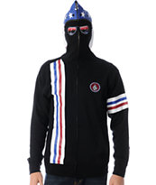 Volcom Inyoface Black Full Zip Face Mask Hoodie