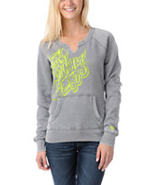 Fox Girls Silencer Grey Crew Neck Sweatshirt