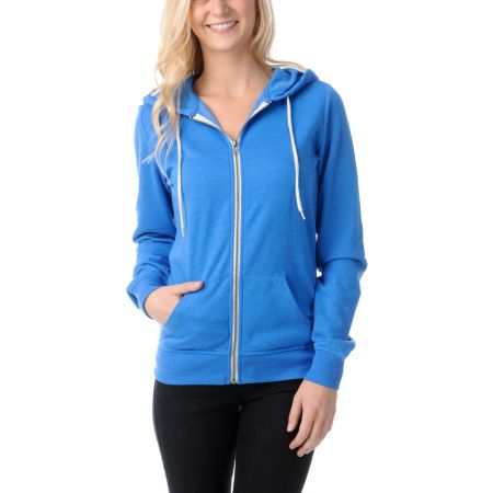 Zine Girls Princess Blue Zip Up Hoodie