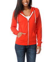 Zine Girls Fiery Red Zip Up Hoodie