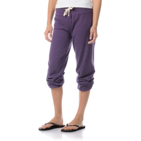 Zine Girls Purple Pennant Sweatpants
