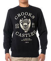 Crooks and Castles Decade Medusa Black Crew Neck Sweatshirt