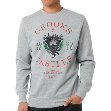 Crooks and Castles Decade Medusa Crew Neck Sweatshirt