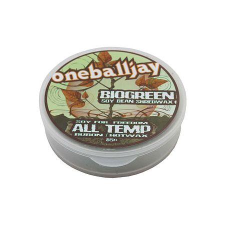 One Ball Jay BioGreen 85g All Temp Soy Snowboard Wax