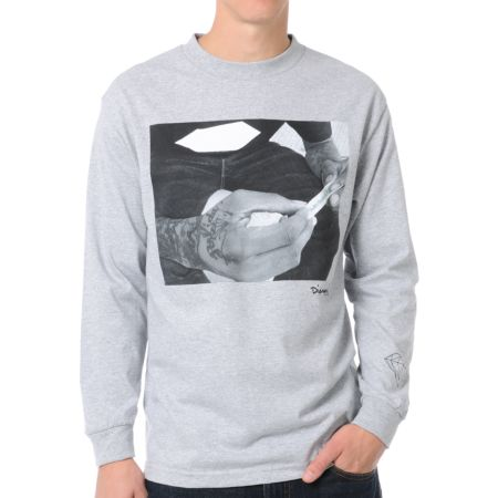 Diamond Supply Rollin Diamonds Grey Long Sleeve Tee Shirt