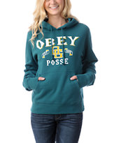 Obey Sandlot Girls Dark Teal Pullover Hoodie
