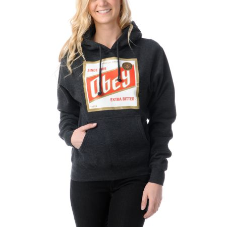 Obey High Life Charcoal Grey Pullover Hoodie
